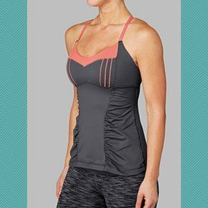 Lululemon Luxtreme Ruched Front Happy Heat Tank